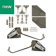 GoodHome Bi fold kit B Grey Soft-close Cabinet hinge