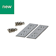 GoodHome 0.16m Jointing plate, Pack of 2