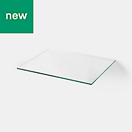 GoodHome Cicely Transparent Shelf (L)394mm, Pack of 2