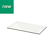 GoodHome Cicely Transparent Shelf (L)594mm, Pack of 2