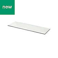 GoodHome Cicely Transparent Shelf (L)994mm, Pack of 2