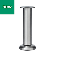 GoodHome Cicely 165mm Silver effect Cabinet legs, Pack of 4