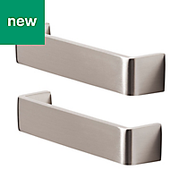 GoodHome Gara Stainless steel effect Cabinet handle (L)136mm, Pack of 2