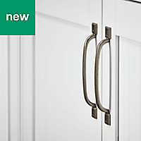 GoodHome Murri Pewter effect Cabinet handle (L)220mm, Pack of 2