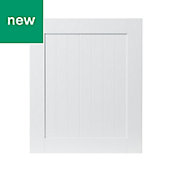 GoodHome Alpinia Matt white tongue & groove shaker Highline Cabinet door (W)600mm