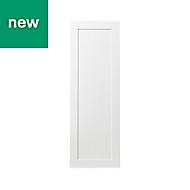 GoodHome Alpinia Matt white tongue & groove shaker Tall Larder Cabinet door (W)500mm