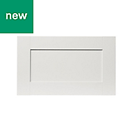 GoodHome Alpinia Matt ivory painted wood effect shaker Drawer front, bridging door & bi fold door (W)600mm