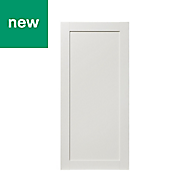 GoodHome Alpinia Matt ivory painted wood effect shaker 70:30 Larder/Fridge Cabinet door (W)600mm