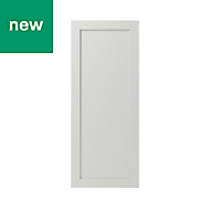 GoodHome Alpinia Matt ivory painted wood effect shaker Tall Larder Cabinet door (W)500mm