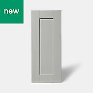 GoodHome Alpinia Matt grey painted wood effect shaker Highline Cabinet door (W)300mm