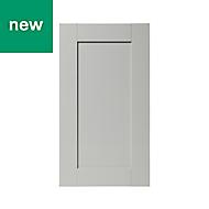 GoodHome Alpinia Matt grey painted wood effect shaker Highline Cabinet door (W)400mm