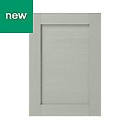 GoodHome Alpinia Matt grey painted wood effect shaker Highline Cabinet door (W)500mm