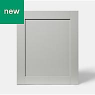 GoodHome Alpinia Matt grey painted wood effect shaker Highline Cabinet door (W)600mm