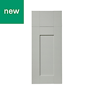 GoodHome Alpinia Matt grey painted wood effect shaker Drawerline Drawerline door & drawer front (W)300mm