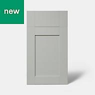 GoodHome Alpinia Matt grey painted wood effect shaker Drawerline Drawerline door & drawer front (W)400mm