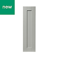 GoodHome Alpinia Matt grey painted wood effect shaker Tall wall Cabinet door (W)250mm