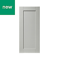 GoodHome Alpinia Matt grey painted wood effect shaker Tall wall Cabinet door (W)400mm