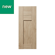 GoodHome Alpinia Oak effect shaker Drawerline door & drawer front, (W)300mm