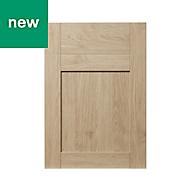 GoodHome Alpinia Oak effect shaker Drawerline door & drawer front, (W)500mm