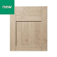 GoodHome Alpinia Oak effect shaker Drawerline door & drawer front, (W)600mm