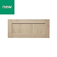 GoodHome Alpinia Oak effect shaker Drawer front, (W)800mm