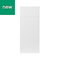 GoodHome Stevia Gloss white slab Drawerline door & drawer front, (W)300mm