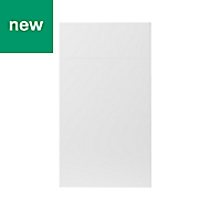 GoodHome Stevia Gloss white slab Drawerline door & drawer front, (W)400mm