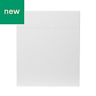 GoodHome Stevia Gloss white slab Drawerline Drawerline door & drawer front (W)600mm