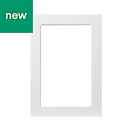 GoodHome Stevia Gloss white slab Glazed Cabinet door (W)500mm