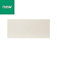 GoodHome Stevia Gloss cream slab Drawer front (W)800mm