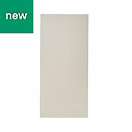 GoodHome Stevia Gloss cream slab Larder Cabinet door (W)600mm