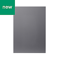 GoodHome Stevia Gloss anthracite slab Highline Cabinet door (W)500mm