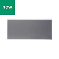 GoodHome Stevia Gloss anthracite slab Drawer front (W)800mm