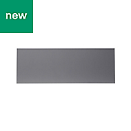 GoodHome Stevia Gloss anthracite slab Drawer front (W)1000mm