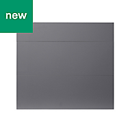 GoodHome Stevia Gloss anthracite slab Drawer front (W)800mm, Pack of 3