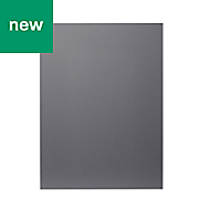 GoodHome Stevia Gloss anthracite slab Tall appliance Cabinet door (W)600mm