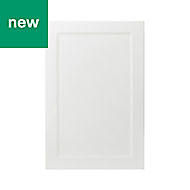 GoodHome Artemisia Matt white classic shaker Tall wall Cabinet door (W)600mm