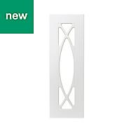 GoodHome Artemisia Matt white classic shaker Tall glazed Cabinet door (W)300mm