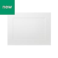 GoodHome Artemisia Matt white classic shaker Appliance Cabinet door (W)600mm