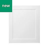 GoodHome Artemisia Matt white classic shaker Tall appliance Cabinet door (W)600mm