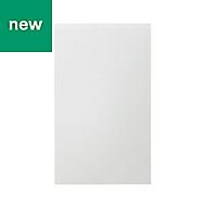 GoodHome Garcinia Gloss white integrated handle Larder Cabinet door (W)600mm