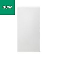 GoodHome Garcinia Gloss white integrated handle Tall Larder Cabinet door (W)600mm
