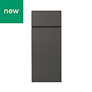 GoodHome Garcinia Gloss anthracite integrated handle Drawerline door & drawer front, (W)300mm