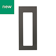 GoodHome Garcinia Gloss anthracite integrated handle Glazed Cabinet door (W)300mm
