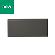 GoodHome Garcinia Gloss anthracite integrated handle Drawer front (W)800mm