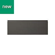 GoodHome Garcinia Gloss anthracite integrated handle Drawer front (W)1000mm