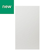 GoodHome Alisma High gloss white slab Highline Cabinet door (W)400mm