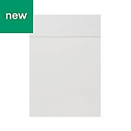 GoodHome Alisma High gloss white slab Drawerline door & drawer front, (W)500mm