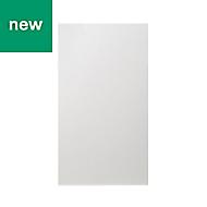 GoodHome Alisma High gloss white slab Tall wall Cabinet door (W)500mm