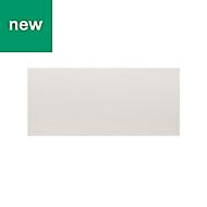 GoodHome Alisma High gloss white slab Drawer front (W)800mm